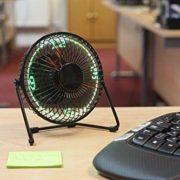Schreibtisch Ventilator mit LED-Uhr