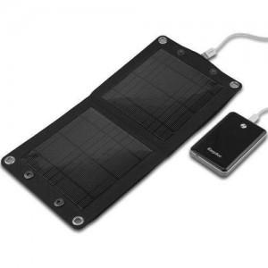 tragbares Solar Ladegerät am Akku