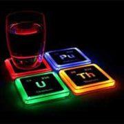 Leuchtende Untersetzer - radioaktives 4er Set