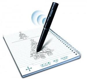 der intelligente Stift in Benutzung