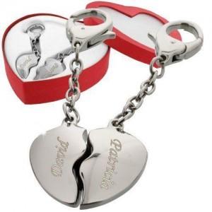 Schlüsselanhänger Herz mit Gravur