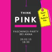 Tipps für eine Faschingsparty: Think pink - Ein Motto für eine Faschingsfeier