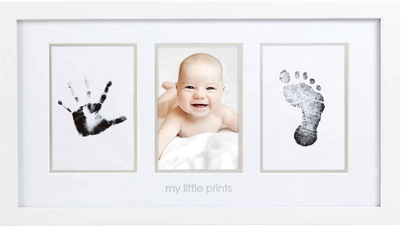 Bilderrahmen für Babyfoto, Hand- und Fußabdruck - Geschenkly ...