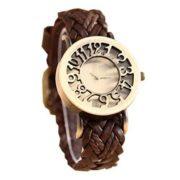 Retro Damen Armbanduhr aus Leder