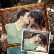 Hochzeitsrahmen für kreative Fotos