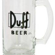 Homer Simpson Duff Bier Glas