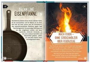 100 Dinge, die MANN getan haben sollte - Beispielseite Eisenpfanne brennen