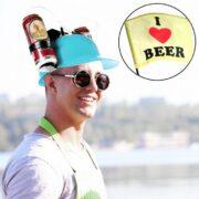 Trinkhelm für Bier und Cola
