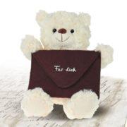 Teddy mit Botschaft