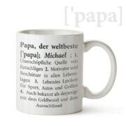 weltbester Papa - personalisierte Tasse mit Namen
