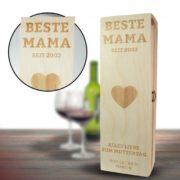 Personalisierte Weinkiste für Mama