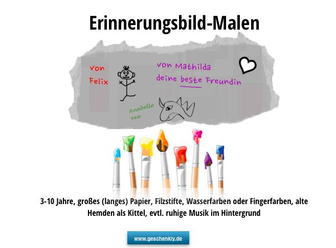 Bild malen Kindergeburtstag