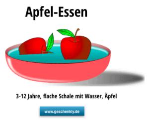 Apfel essen lustiges Spiel