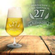 Bierglas zum Geburtstag - mit Name und Jahr