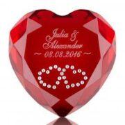 Herz Kristall mit Gravur - ♥ ein liebevolles Geschenk