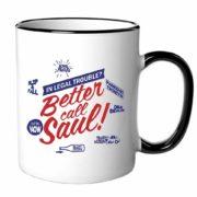 Better Call Saul Tasse - 1. Kaffee rein 2. Botschaft erscheint