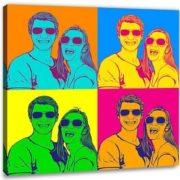 PopArt vom Foto im Warhol Stil