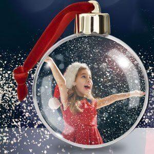 Foto-Weihnachtskugel für den Baum