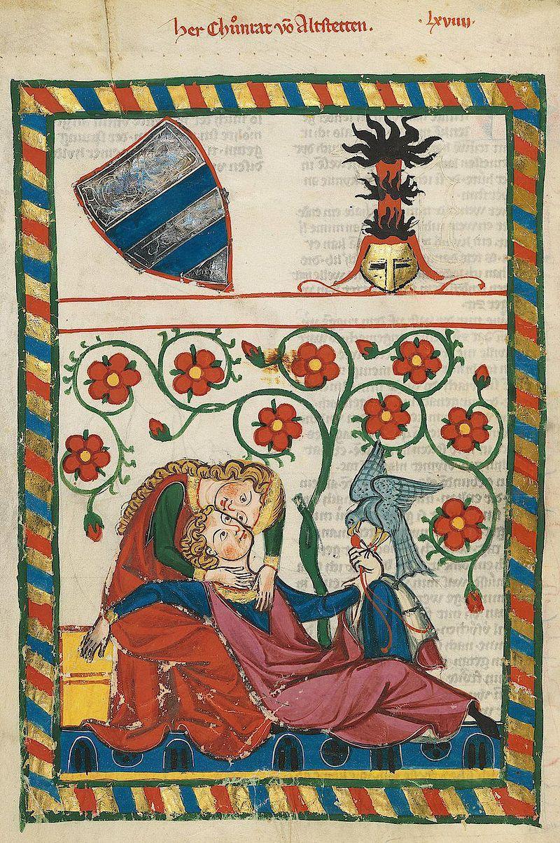 Codex-manesse-Altstetten-liebende-mittelalter