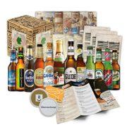 Bierset mit 12 deutschen Bieren