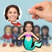 3D Foto Puppen Schlüsselanhänger