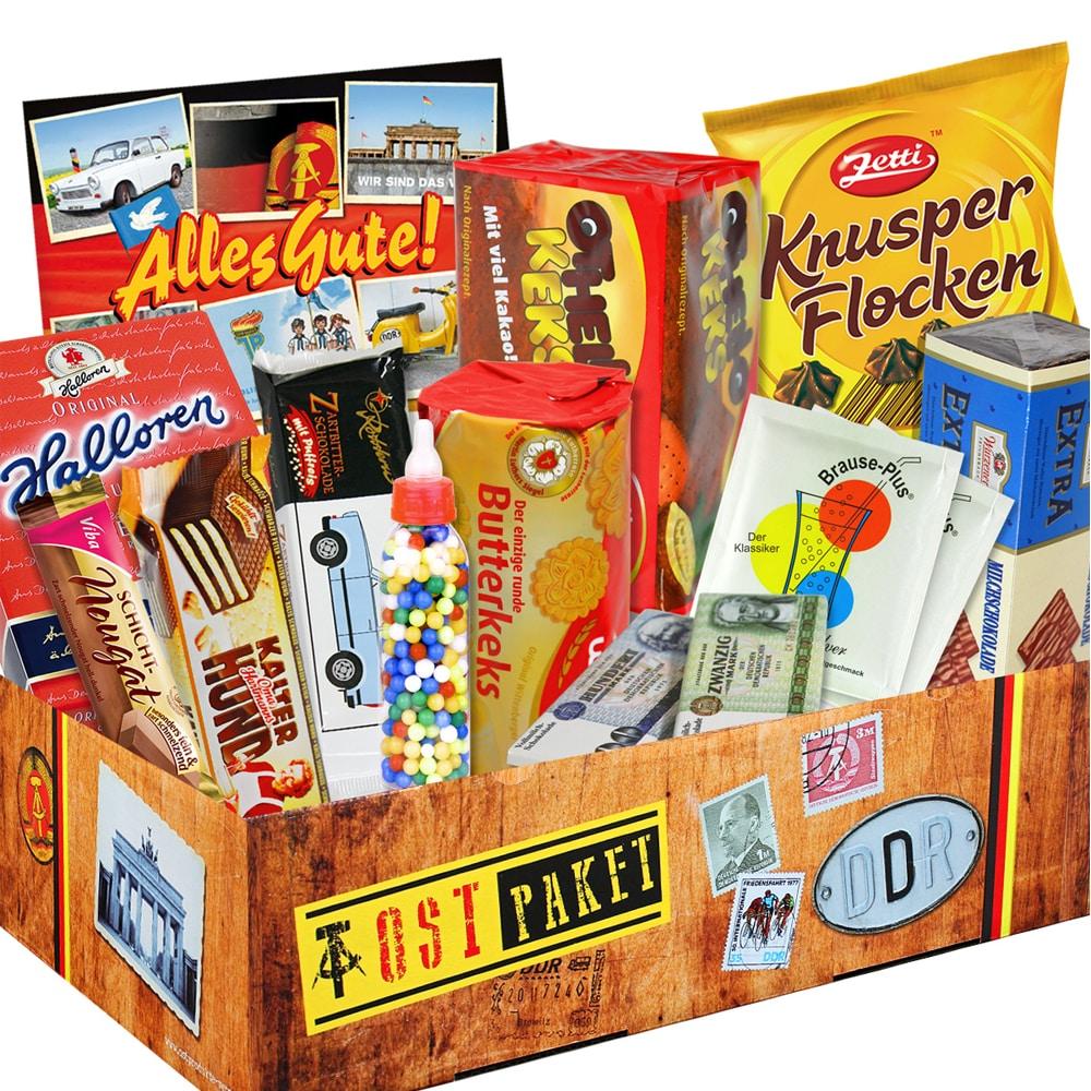 DDR-Süßigkeiten im Geschenkkarton - süßes zum Kindergeburtstag ✓