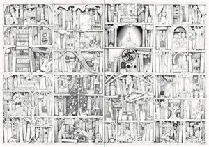 Malbuch mit Fantasiemotiven - Beispielseite