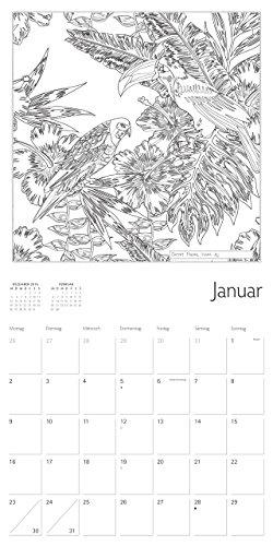Secret Places Ausmalkalender Januar