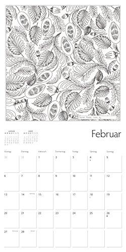Secret Places Ausmalkalender Februar
