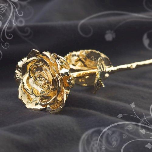 Vergoldete Rose als Geschenkidee