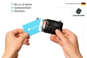 15 Kreditkarten in einem Mini Geldbeutel