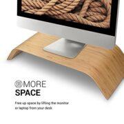 Monitor Ständer aus Walnussholz - Geschenk für PC und Schreibtisch