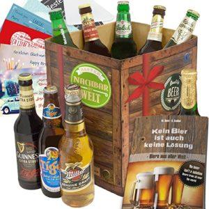 Bester Nachbar der Welt Kiste mit allen Biersorten