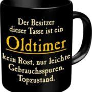 Kaffeebecher älterer Herr