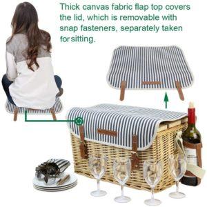 Picknickkorb mit vielen Funktionen