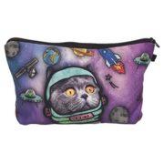 Space cat Kosmetiktasche von Loomiloo - Geschenk für junge Frauen!