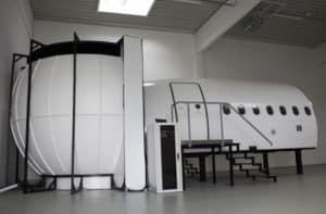 Der Flugsimulator von außen