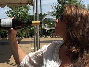 Weinglas Flaschenaufsatz - Weinglas für die Weinflasche