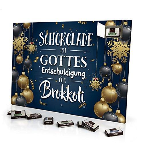 Schoko-Adventskalender mit witzigem Spruch - originell ...