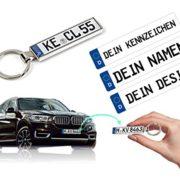 Schlüsselanhänger mit Kennzeichen