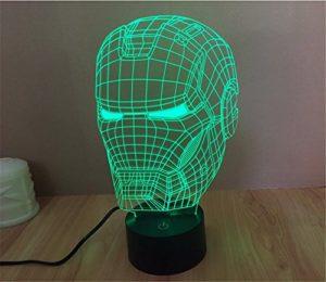3D Iron Man Helm Nachtlicht
