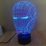 Iron Man Helm 3D Lampe mit optischer Täuschung als Geschenkidee!