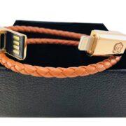 Veganes Leder-Aufladekabel für Iphone als Armband