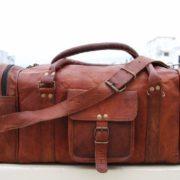 stylische Reisetasche aus Leder