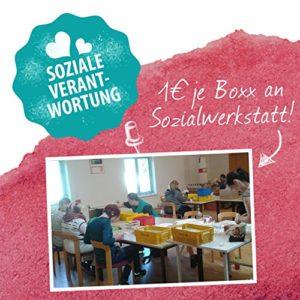 1€ je Box geht an eine Sozialwerkstatt