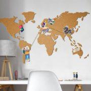 Kork-Pinnwand Weltkarte - Selbstklebend