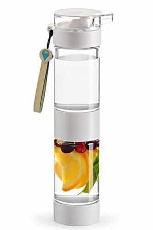 Trinkflasche mit Früchteeinsatz
