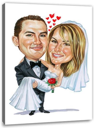Karikatur Vom Foto Zur Hochzeit Foto Hochladen Und Geschenk Bestellen