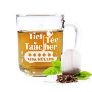 Lustige Tief-Tee-Tauchertasse