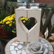 Herz-Teelichthalter aus Holz